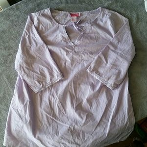 Liz Lange Purple Maternity Shirt Top
